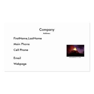 Business Card / Pu'u'Oo Volcano