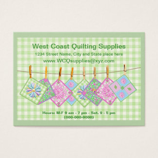 Business Card - Qulting Clothesline- Personalize