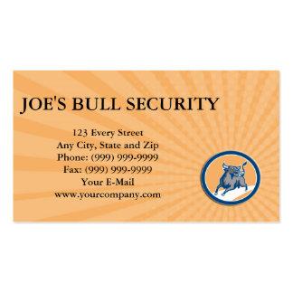 Business card Raging Bull Attacking Charging Circl