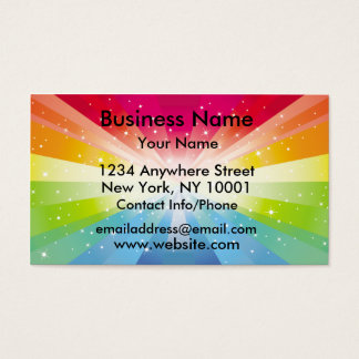Business Card rainbow Explosion