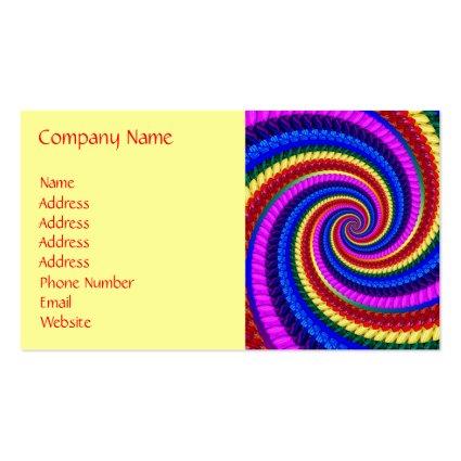 Business Card - Rainbow Swirl Fractal Pattern
