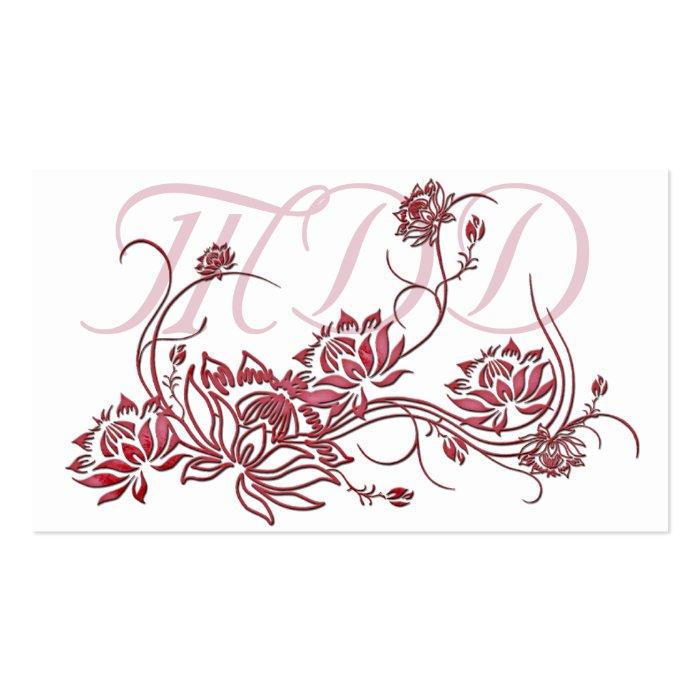 Red Lotus Cake Design : Business Card :: Red Lotus Flower Design Zazzle