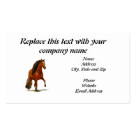 Business Card, Red Peruvian Paso