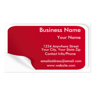Sticker Business Cards & Templates