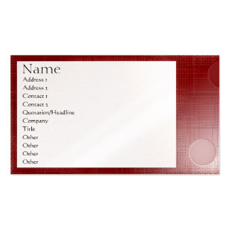 "Business Card ""Red Tech"" pattern 1"