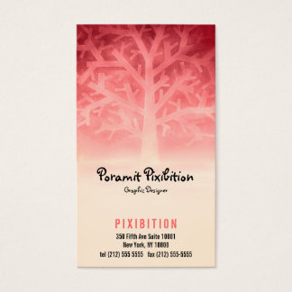 Business Card (Red Tree)