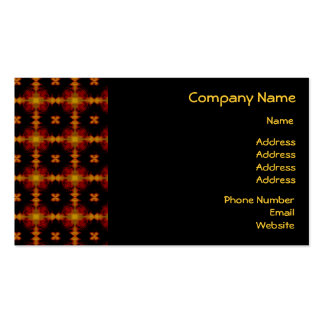 Business Card - Retro Fractal Pattern red black