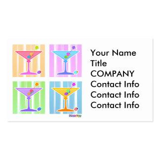 Business Card - Retro Pop Art Martinis