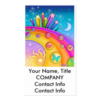 Business Card - Retro Sixties Pop Art Sky