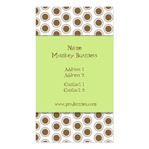 Business Card ~ Retro stars, cocoa