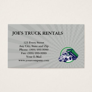Business card Roll-Off Bin Truck Driver Thumbs Up