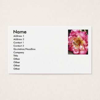 Business Card ~ Rose w/a Bee