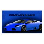 Business Card Royal Blue Sports Car