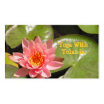 "Business Card, "" Salmon-Pink Lotus Blossom"""