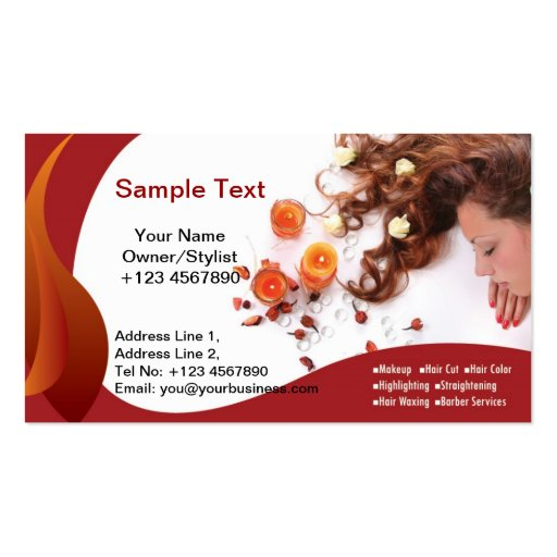 Business Card Salon Orange