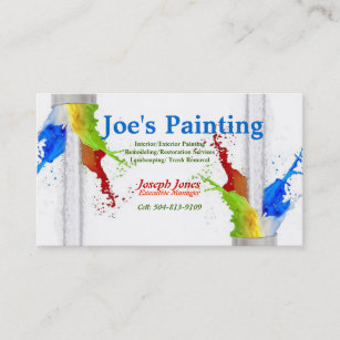 Business Card Sample (Painting Series Revised) Business Card