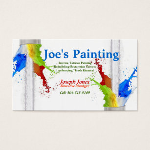 Sample business cards templates zazzle business card sample painting series revised business card colourmoves