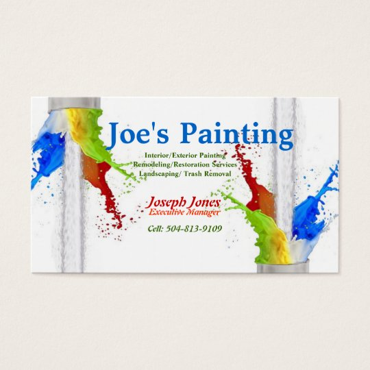 Business CardSample Painting Series Revised Business Card  Zazzle