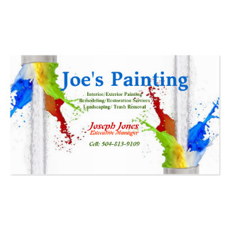 Business Card-Sample (Painting Series Revised) Double-Sided Standard Business Cards (Pack Of 100)