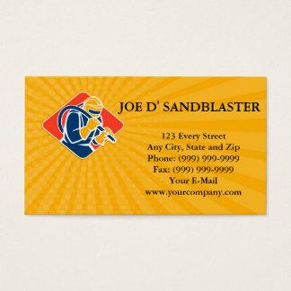 Business card Sandblaster Sandblasting Hose Retro