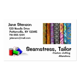 Business Card: Seamstress, Tailor