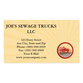 Business card Sewage Drainage Truck Hydro Unit Ova