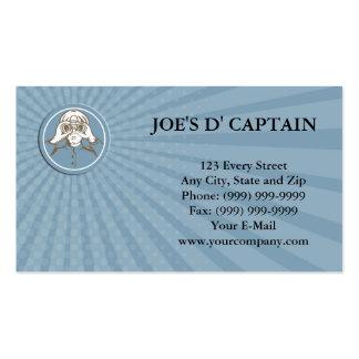 Business card Ship Sea Captain Binoculars Circle R
