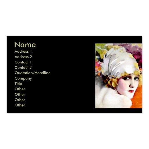 Business card, silent film star Anna Nilsson