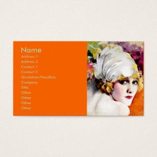 Business card, silent film star Anna Nilsson Business Card