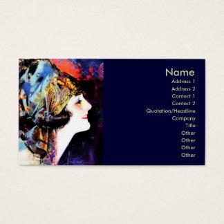 Business card, silent film star Martha Mansfield Business Card