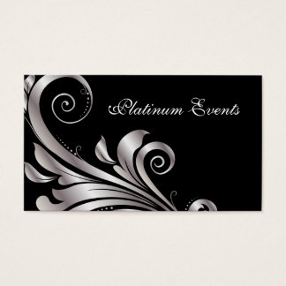 Business Card Silver Leaf Event Planner