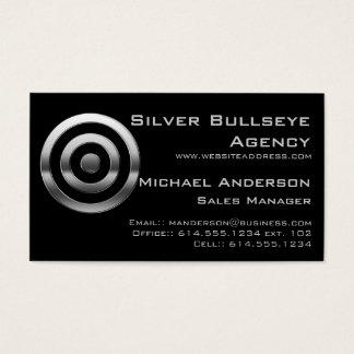 Business Card :: Silver Metal Bullseye Target