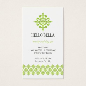 Professional Business BUSINESS CARD simple modern motif lime green