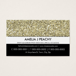 BUSINESS CARD :: simple trendy gold glitter effect