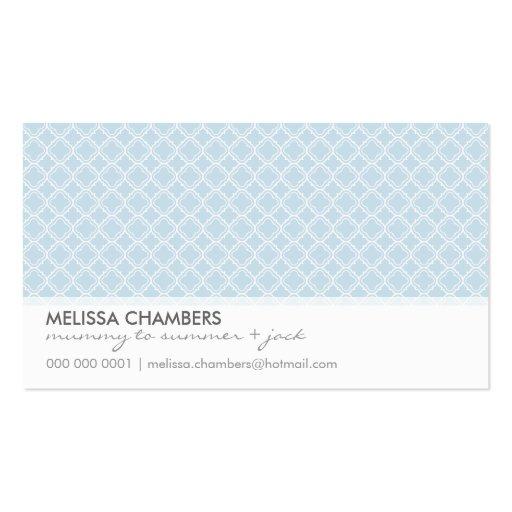 BUSINESS CARD :: simplistic-pattern 1L