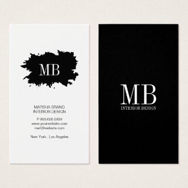 Professional Business Business Card - Simplistic Splatter Monogram