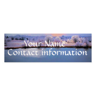 Business Card Skinny Icy Pond and Willows