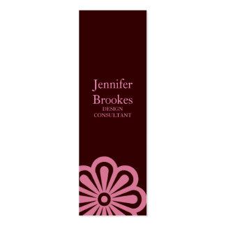 Business Card Small Flower brpnk