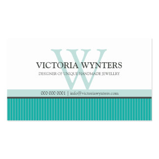 BUSINESS CARD smart modern monogram jade green