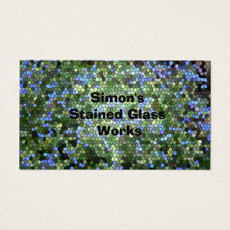 """Business Card, """"Stained Glass"""" Business Card"""