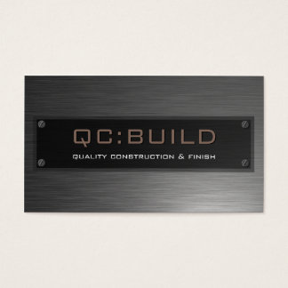 BUSINESS CARD :: stainless steel riveted 8