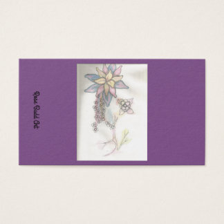 business card standard purple
