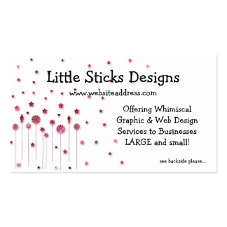 Business Card :: Stars & Little People Sticks