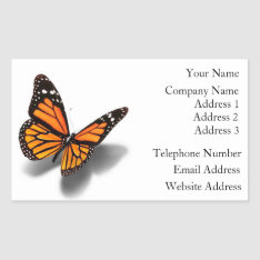 Business Card Stickers Butterfly at Zazzle