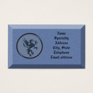 Business card Stone with mythological griffin