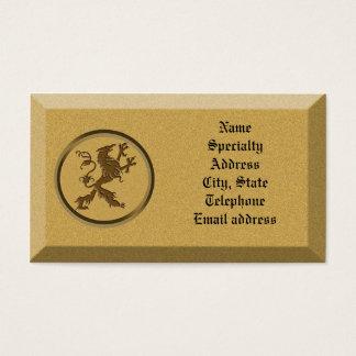Business card Stone with mythological Lion