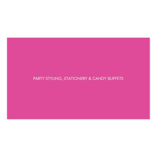 BUSINESS CARD :: stylish confetti pink + gold (back side)
