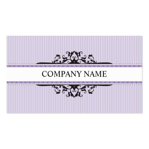 BUSINESS CARD stylish divine vintage purple black