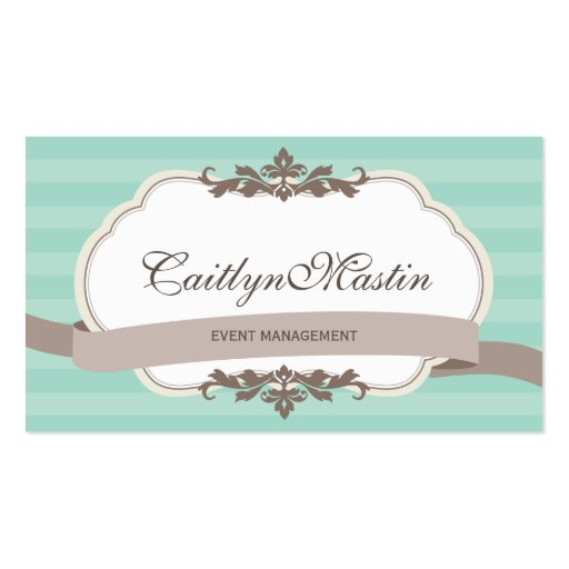 BUSINESS CARD stylish elegant mint brown