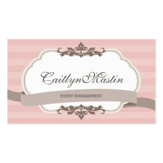 BUSINESS CARD stylish elegant pale pink brown